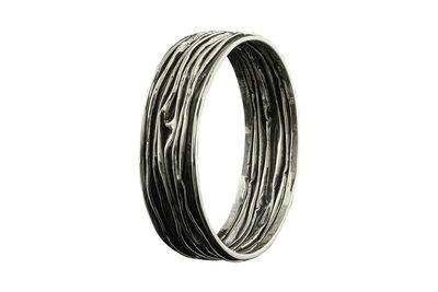 Zilveren armband van gekreukt zilver