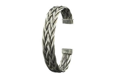 Armband van gevlochten zilver