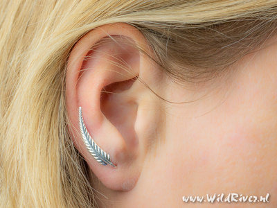 Oorklimmer Varenblad - Echt Zilver